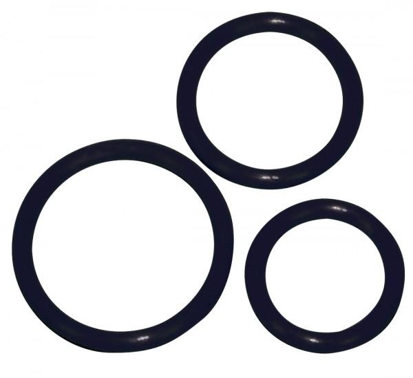Penis- und Hodenring Set 5, 4,2 und 3,2 cm