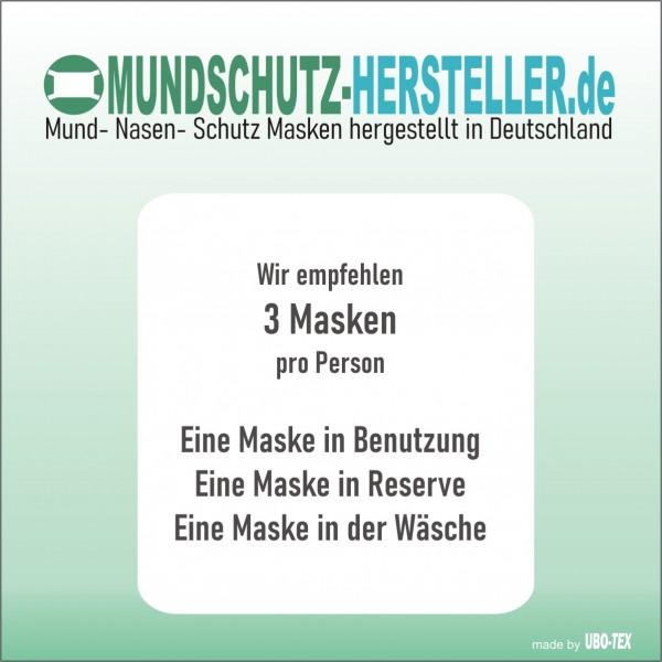 6-er SET Mund- Nasen- Maske MINI (2-lagig) wiederverwendbar – elastische Bindung